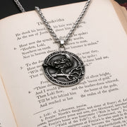 Viking Gungnir Raven Stainless Steel Pendant Necklace