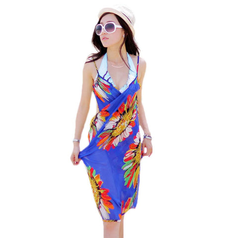 Bohemian Halter Strapped Sleeveless Dress