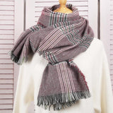 Classic Tassel Plaid Scarf Warm & Soft
