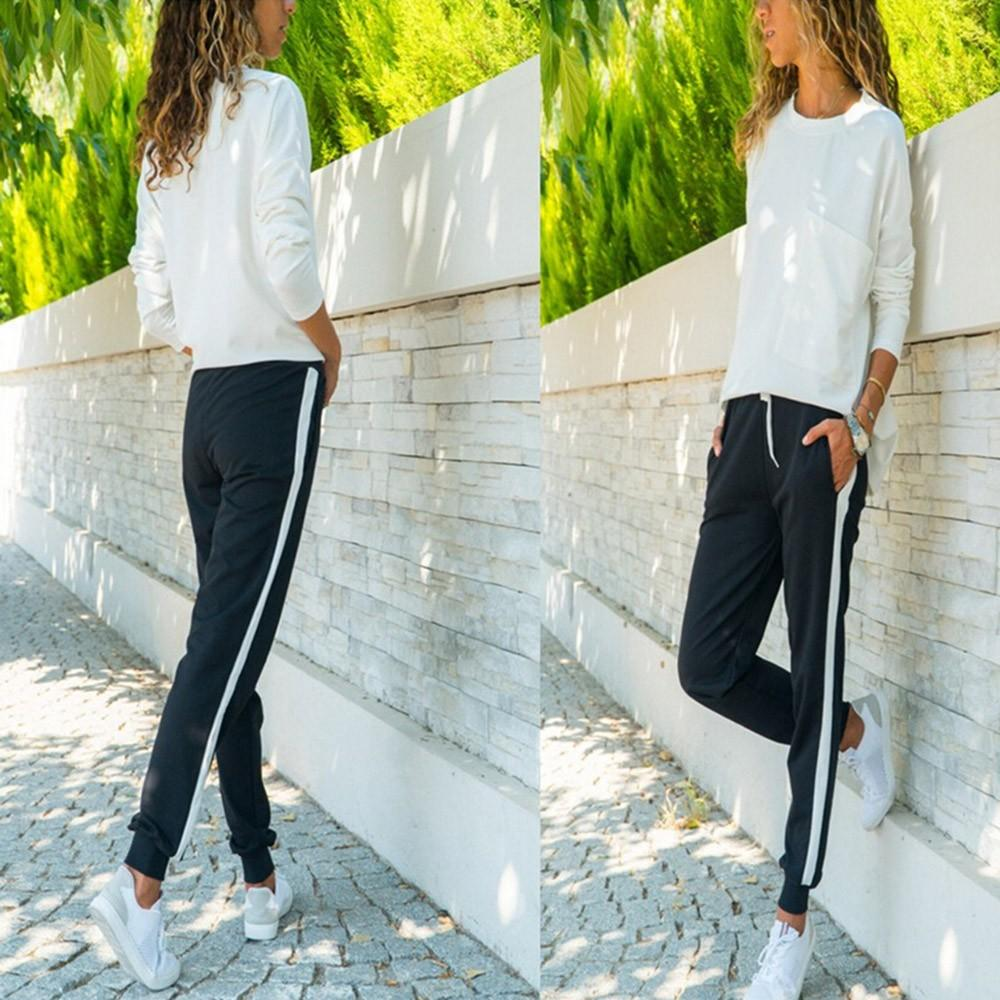 Casual Drawstring Panelled Pockets Loose Pants