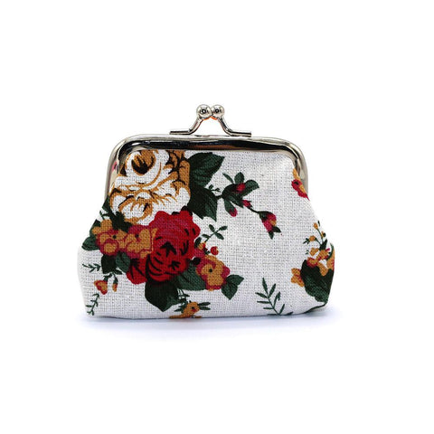 Flower Wallet Hasp Canvas Purse