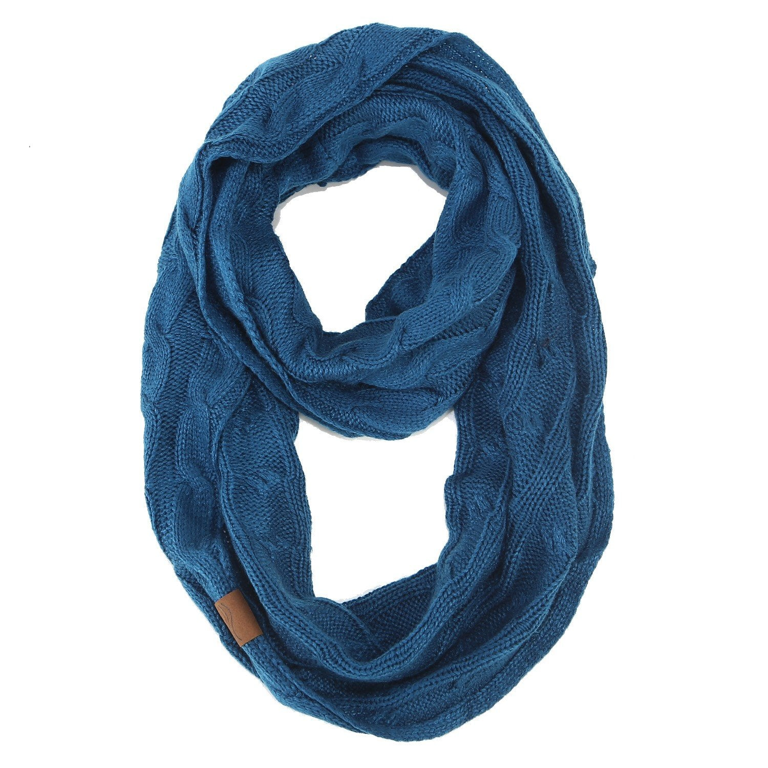 Knitted Cable Ring Scarf