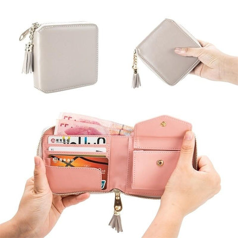 Pu Leather Wallet Small Clutch Purse