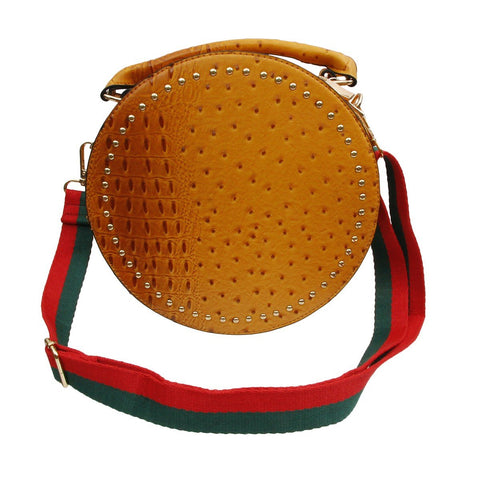 Gucci Style Green and Red Striped Canvas Bag/Purse Strap