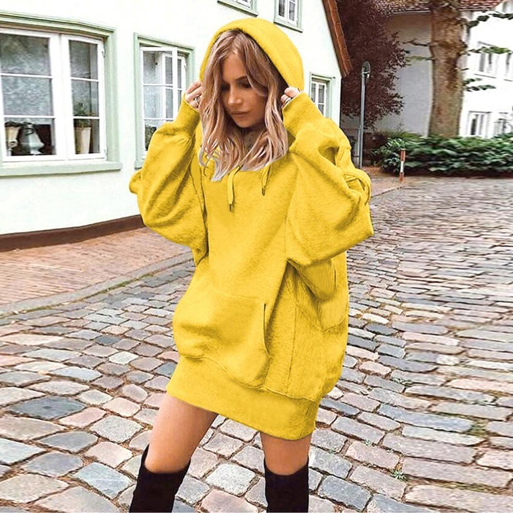 Solid Color Hoodie Pullover Coat