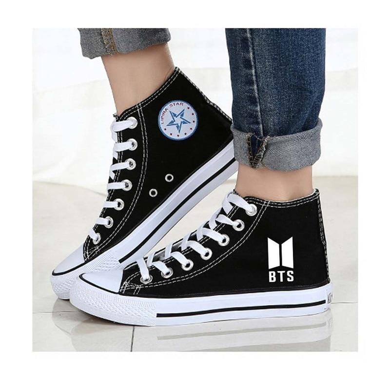 Kpop BTS Bangtan Boys Jimin BTS  Canvas Shoes