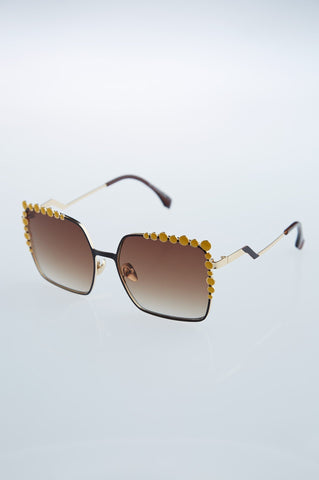 Detailed Brown Sunglasses