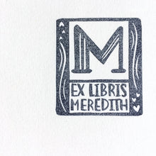 Load image into Gallery viewer, Custom Ex Libris name stamp