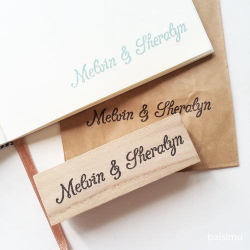 Couple name stamp