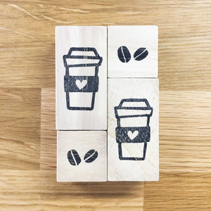 Coffee set stamp