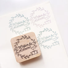 Load image into Gallery viewer, Floral border wedding stamp