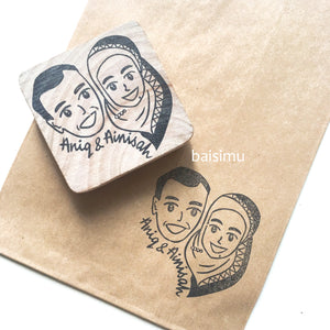 Custom caricature stamp
