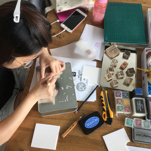 Rubber stamp carving private workshop