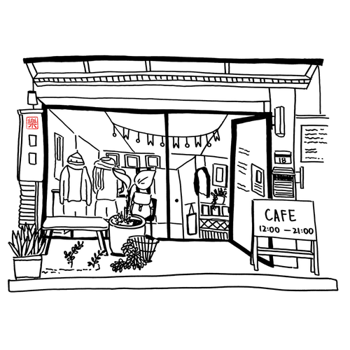 Vector PDF Printable art - Taipei Cafe