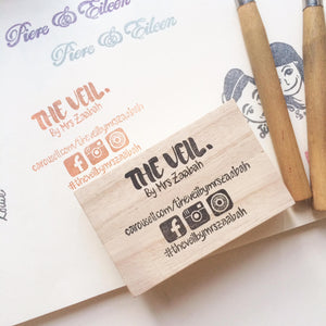 Custom name card branding stamp