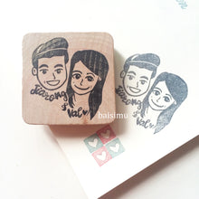 Load image into Gallery viewer, Custom caricature stamp