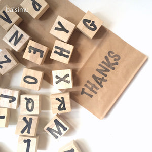 Large alphabet stamp set