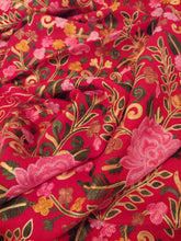 Load image into Gallery viewer, Kashmiri red Ari embroidery stole (wrap)