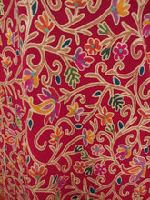 Load image into Gallery viewer, Red awesome Kashmir antique design Ari stole