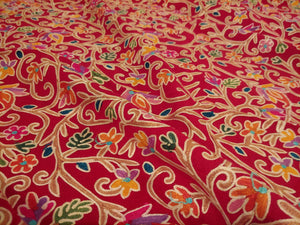 Red awesome Kashmir antique design Ari stole
