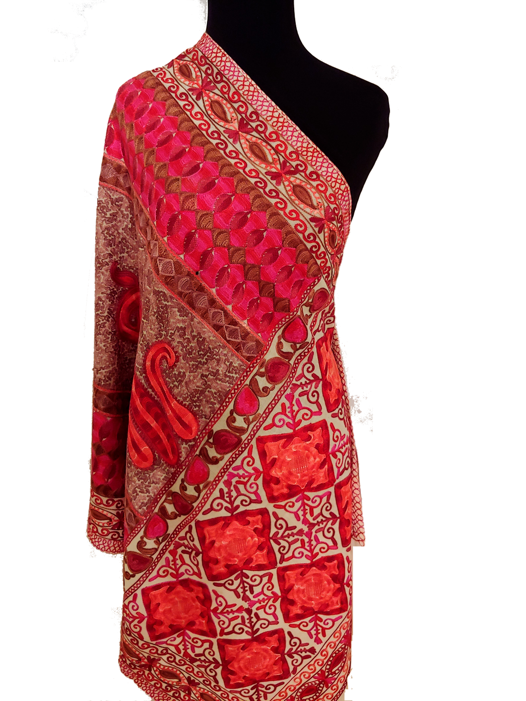Kashmiri Ari embroidered Stole (Wrap)
