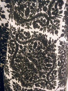 Fine black on white Ari embroidered stole (Wrap)