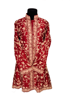 Awesome Burgundy Kashmir Ari Silk Jacket