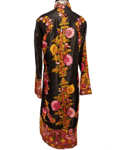 Load image into Gallery viewer, Awesome Black Kashmir Ari embroidered silk jacket