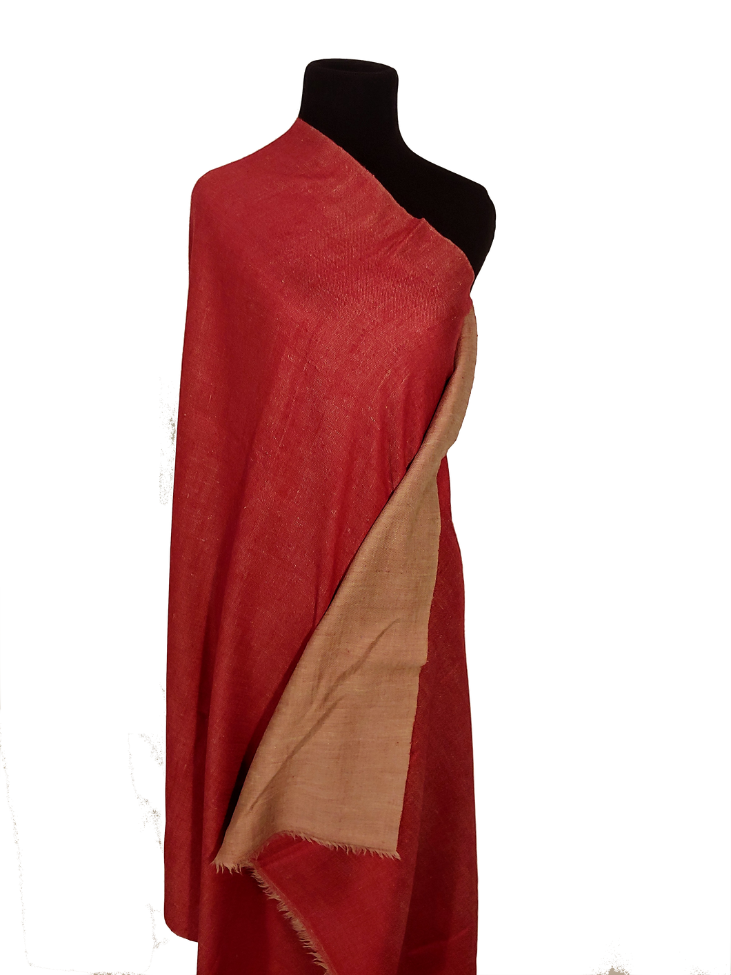 Dorukha Pashmina red and classic- (Double sided Pashmina)