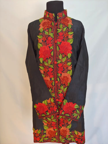 Kashmiri Ari embroidered silk jacket