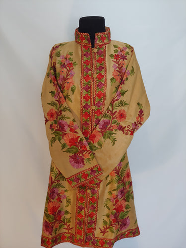 Faan Kashmiri Ari embroidered silk jacket