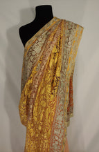 Load image into Gallery viewer, Kashmiri Aari embroided Net Saree (yellow)