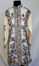 Load image into Gallery viewer, Cream Kashmiri Ari embroidered wool jacket