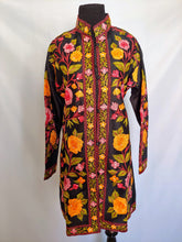 Load image into Gallery viewer, Black Kashmiri Ari embroidered silk jacket