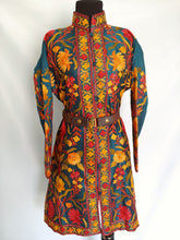 Load image into Gallery viewer, Green multicolor Kashmiri Ari embroidered Silk Jacket