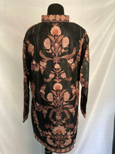 Load image into Gallery viewer, New Black Kashmiri Ari embroidered silk jacket (flowers)