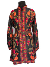 Load image into Gallery viewer, Black floral Ari Silk Jacket NEW 8