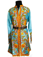 Load image into Gallery viewer, Blue floral Ari Silk Jacket NEW