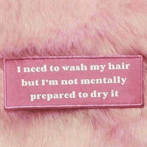 Washing and drying your hair meme