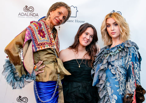 Photo of Kristen Pereira, founder of Adalinda Sustainable Fashion, and models