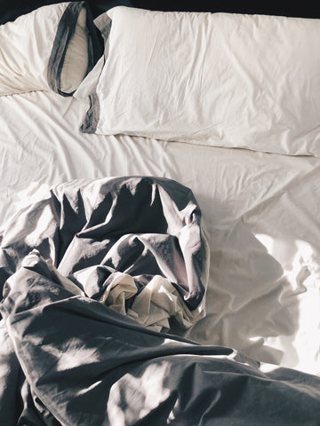 Photo of unmade bed