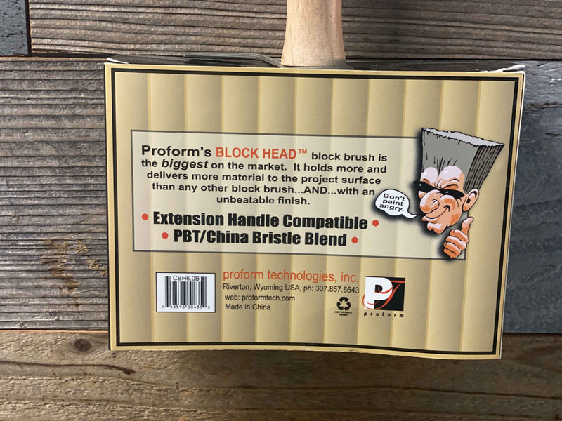 "6""Proform Blockhead Block Deck Stain Brush  CBH6.0B - Stain & Seal Experts Store"