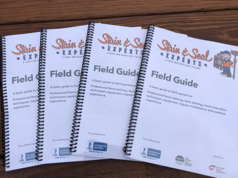 Staining Business Field Guide & SOP Manual - Stain & Seal Experts Store