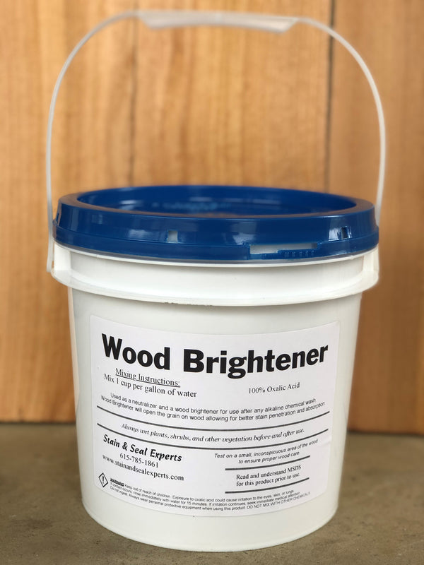 Wood Brightener | 100% Oxalic Acid - Stain & Seal Experts Store