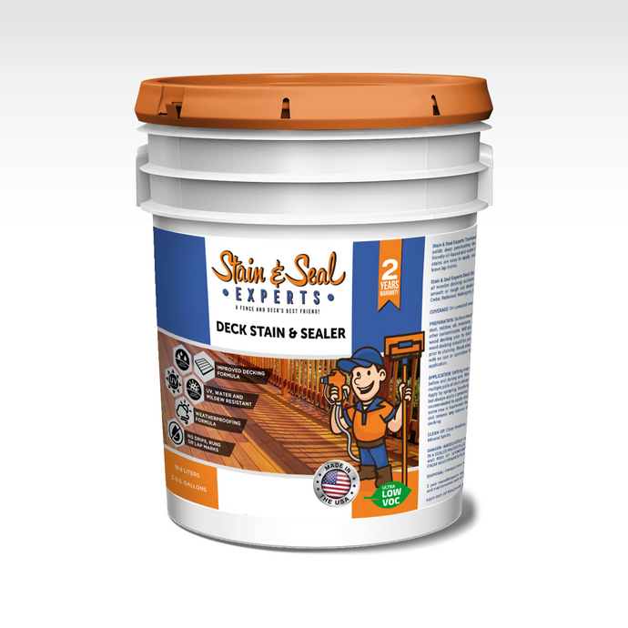 Deck Stain & Sealer | Semi Transparent | 5 Gallons | Color Options | FREE SHIPPING - Stain & Seal Experts Store
