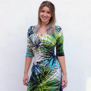 Tropical Island Ruched Dress