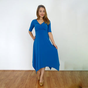 Teal Hanky Hem Dress - Rebecca Ruby