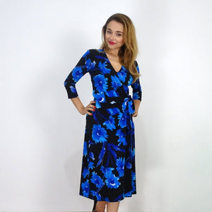 Blue Daze Wrap Dress - Rebecca Ruby
