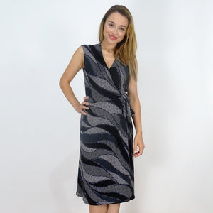 Paris Nights Wrap Dress - Rebecca Ruby