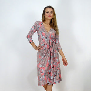 Sunset Orchid Wrap Dress - Rebecca Ruby